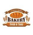 Fresh tasty bakery products premium quality label vector image