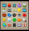 multimedia icon set-9 vector image