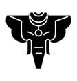 Elephant india icon black vector image