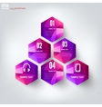 Abstract polygonal geometric background with web vector image