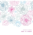 gray and pink lineart florals horizontal vector image