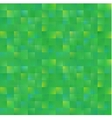 abstract green squares background vector image