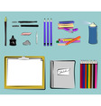 art supplies  drawing vector image