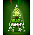 Merry Christmas design vector image vector image