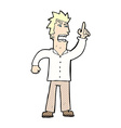 comic cartoon angry man making point vector image