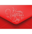 Valentines envelope red vector image