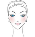 woman front face vector image