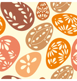 Seamless spring pattern with floral easter eggs vector image vector image