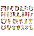 Kids Formed Alphabets Chart vector image