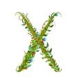 Alphabet letter X elegant flower blooming vector image