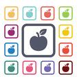 apple flat icons set vector image