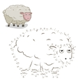 Connect the dots game sheep vector image