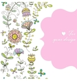 doodle flower simles vector image