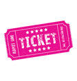 pink ticket vector image