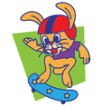 Rabbit Skateboard vector image