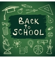 School hand drawn set of education elements vector image