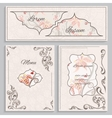Set floral vintage ornament menu cards and vector image