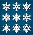 snowflakes set for christmas design vector image