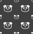 Teddy Bear icon sign Seamless pattern on a gray vector image