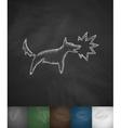 dog barking icon vector image