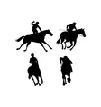 Equestrian Show Silhouette vector image
