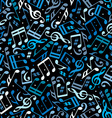 colorful dotted music seamless pattern with vector image