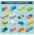Isometric Transport Icons Set vector image