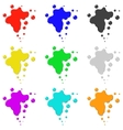 Colored ink vector image