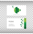 logo with business card vector image