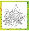 Coloring book for children - musical instruments vector image