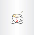 cup of tea clipart icon vector image