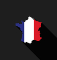 France flag map flat design vector image