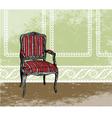 Interior design scene with an armchair vector image