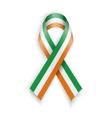 Ireland flag Abstract irish ribbons vector image
