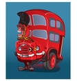 London city bus and cab vector image