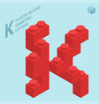 Plastic blocs letter j vector image