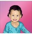 Portrait of cute and funny little girl vector image