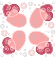 Seamless flower heart doodle background pattern vector image