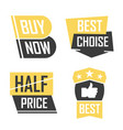 season sale badges and tags design set for vector image