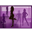 Silhouette of Models Posing vector image