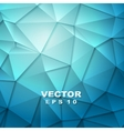 Tech geometry blue background vector image