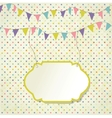 Vintage frame with birthday bunting flags vector image