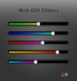 Web application GUI sliders vector image