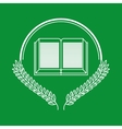 greenboard with school icon vector image