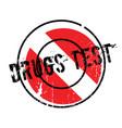 drugs test rubber stamp vector image