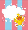 A stationery with a baby duck vector image