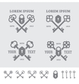 Labels with crossed keys vector image
