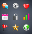 internet and web icons vector image vector image