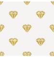 Seamless background Glitter gold diamonds vector image