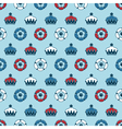 crowns and roses pattern vector image